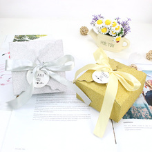 AVEBIEN Glitter Paper Gift Boxes with Ribbon Event Party DIY Decoration Cake Box Mothers Day Big Space Chocolate Package 10pcs