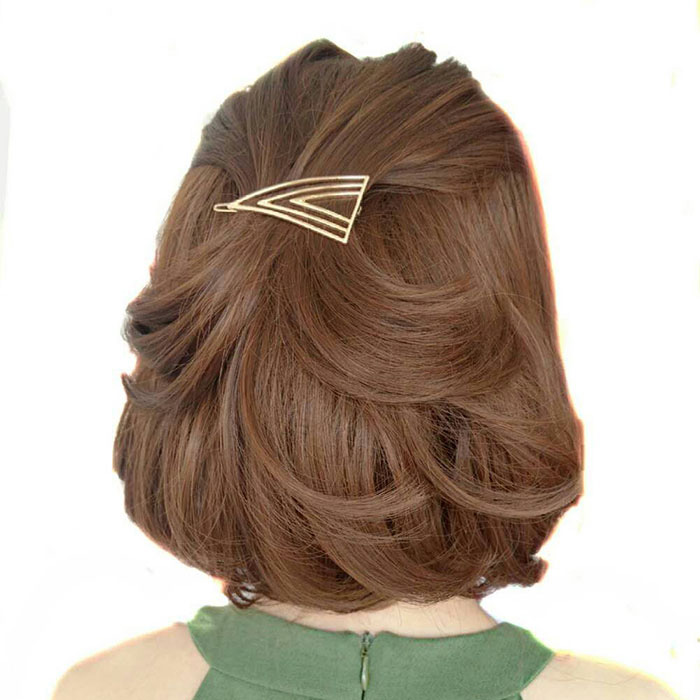 Geometry Triangle Hair Clip Hairpins Fashion Branded Design Geometry Hairpins Accessories Women Jewelry