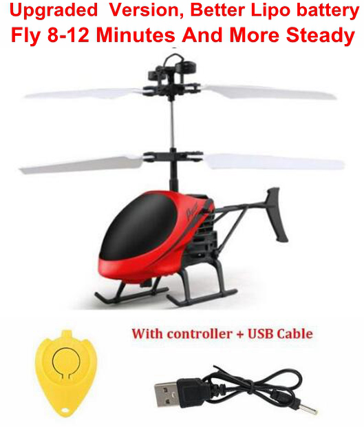US $5 9 |Mini RC drone Flying RC Helicopter Aircraft dron Infrared  Induction LED Light Remote Control drone dron Kids Toys free shipping-in RC