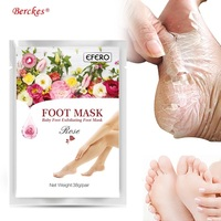 2018 1 Pair Exfoliating Baby Feet Masks Foot Mask Peel Socks for Pedicure Spa Removing Dead Skin Heels For Woman Men Skin care