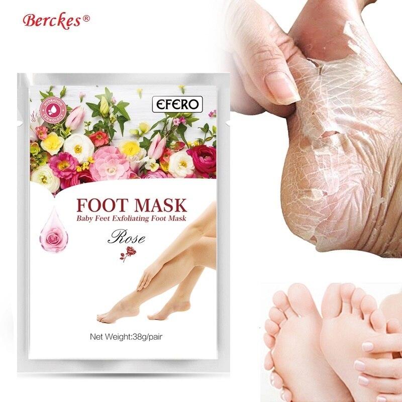 2018 1 paire exfoliant bébé pieds masques pied masque Peel chaussettes pour pédicure Spa enlever peau morte talons pour femme hommes soins de la peau