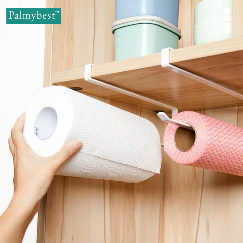 Kitchen Paper Hanger Sink Roll Towel Holder Organizer Rack Space Save Bathroom Roll Paper Shelf Hanging Door Hook Rack Holder