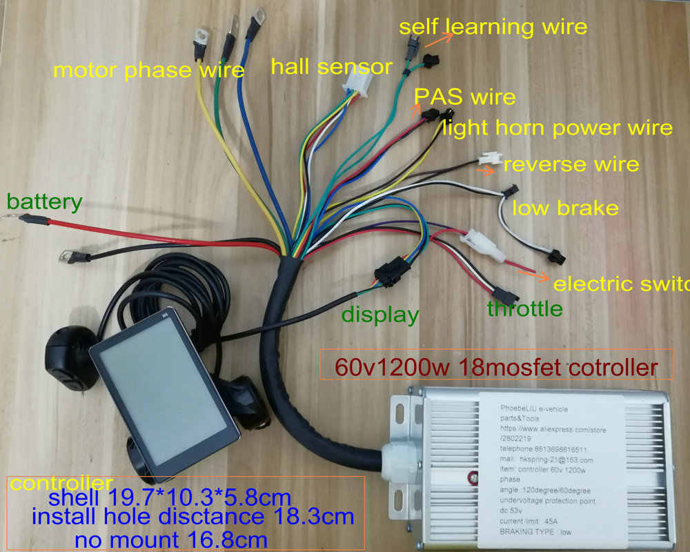 LCD display24v36v48v60v&BLDC controller 400w-1200w for electric scooter  bike tricycle motorcycle MTB part dashboard speedometer