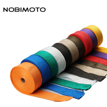 1.5mm*50mm*10m Heat Exhaust 10M Pipe Shield Thermo Turbo Wrap Tape For Intake Intercooler Reflective Insulation Kit XP007