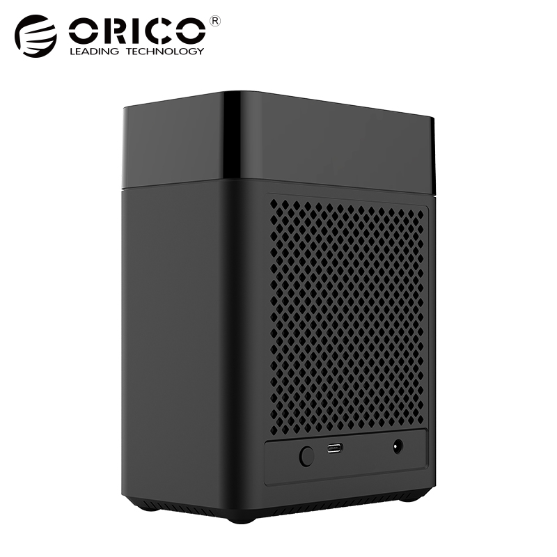 ORICO Dual Bay Magnetic-type 3.5 inch Type-C Hard Drive Enclosure USB3.1 Gen1 5Gbps HDD Case Support UASP 12V4A Power MAX 20TB canpol babies погремушка штанга 0 canpol babies бирюзовый