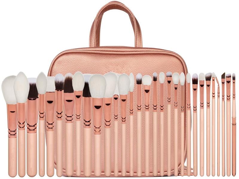 30 beginner make up borstel set dierlijk haar make up tools volledige set van oogschaduw borstel wenkbrauw borstel blush losse poeder borstel