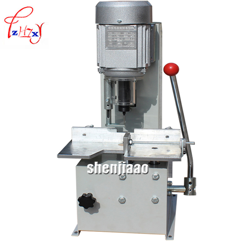 Electric Paper Drilling Machine, Single Drilling Hole for Paper Labels Binding Machine, Menu, Receipt t30 paper drilling machine manual hand hole punch paper machine single hole thickness 35mm manual single hole drilling machine
