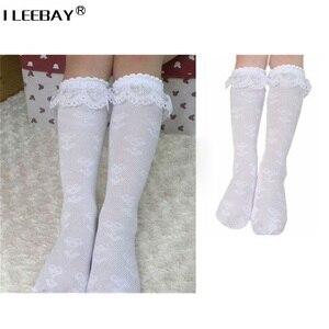 Chaussettes en dentelle blanche à volants | 5 paires, garniture à la cheville à frous, chaussettes pour écoliers et les genoux, pour enfants de 3 à 8 ans, vente en gros