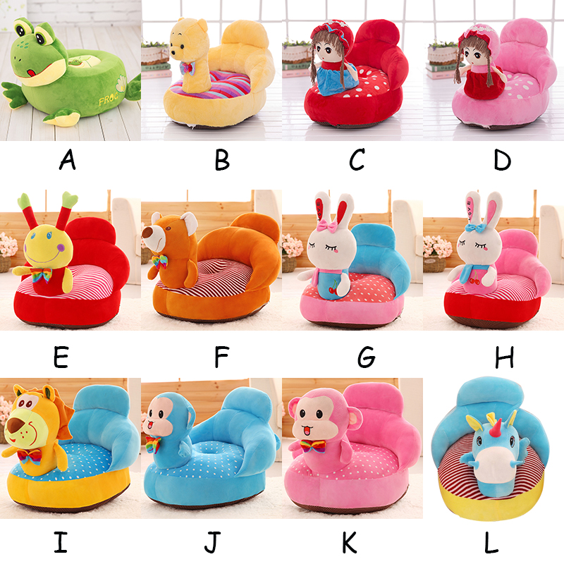 Baby Support Seat Plush Soft Rideable Animal Baby Sofa Infant Learning Sit Down Chair Keep Sitting Posture Comfortable For Baby baby support seat sofa plush soft animal shaped baby learning to sit chair keep sitting posture comfortable for 0 2 years baby