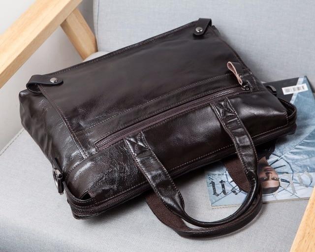 Messenger Bag men's genuine leather men shoulder bag Casual Male briefcases laptop Crossbody bags for men handbags 2
