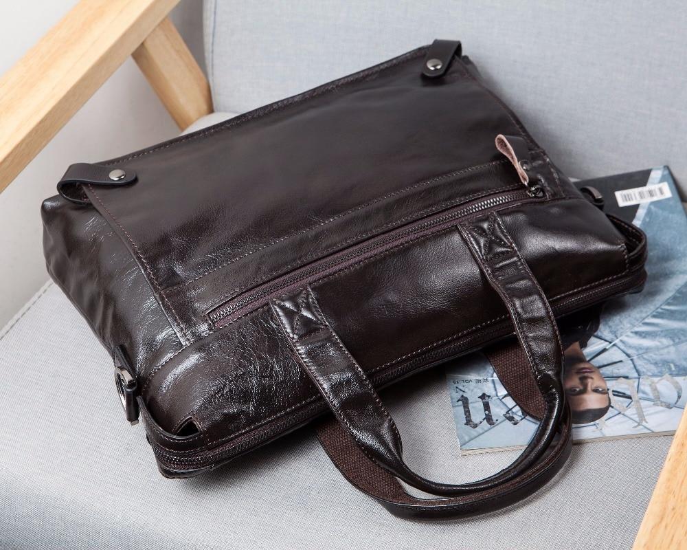 WESTAL Messenger Bag hommes en cuir véritable hommes sacs à bandoulière en naturel homme porte-documents ordinateur portable sac à bandoulière pour hommes 9103 - 3