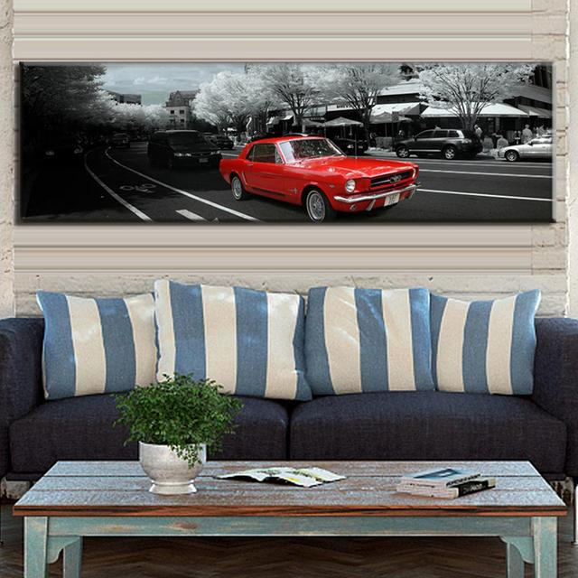 modern wall paintings the city red car canvas prints wall art large canvas paintings decorative picture