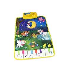 Популярные детские пианино коврики музыкальные ковры детские животные зоопарк музыкальный сенсорный Поющий коврик игрушка levert Dropship Oct 26