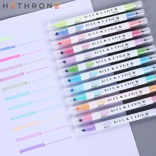Buy Hethrone 12 pcs/set sharpie highlighter Markers Pen colorful Kids art cute double-head Graffiti Painting drawing pens for school directly from merchant!