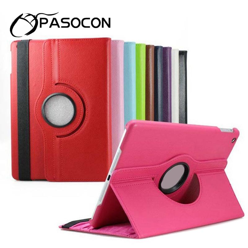 Pour new ipad 2017 Cas, 360 Rotation Flip Stand Smart Cover Case pour ipad air 2 Multi-angle Stand Tablet Case Auto Éveillé/Sommeil