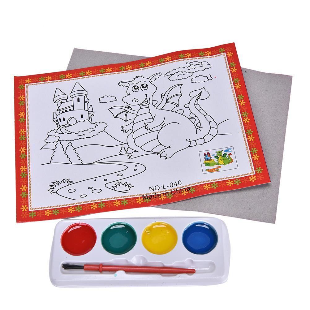 1 Satz Aquarell Malerei 4 Farben Lernen Diy Aquarell Malerei Set Für Babys Kinder Zeichnung Spielzeug Kinder Pädagogisches Spielzeug Und Ein Langes Leben Haben.