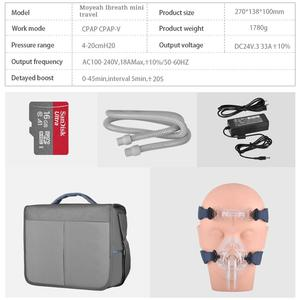 Image 5 - MOYEAH Travel Mini APAP Machine Portable Auto CPAP Medical Equipment With Heated Humidifier Mask Hose For Anti Snore Sleep Apnea