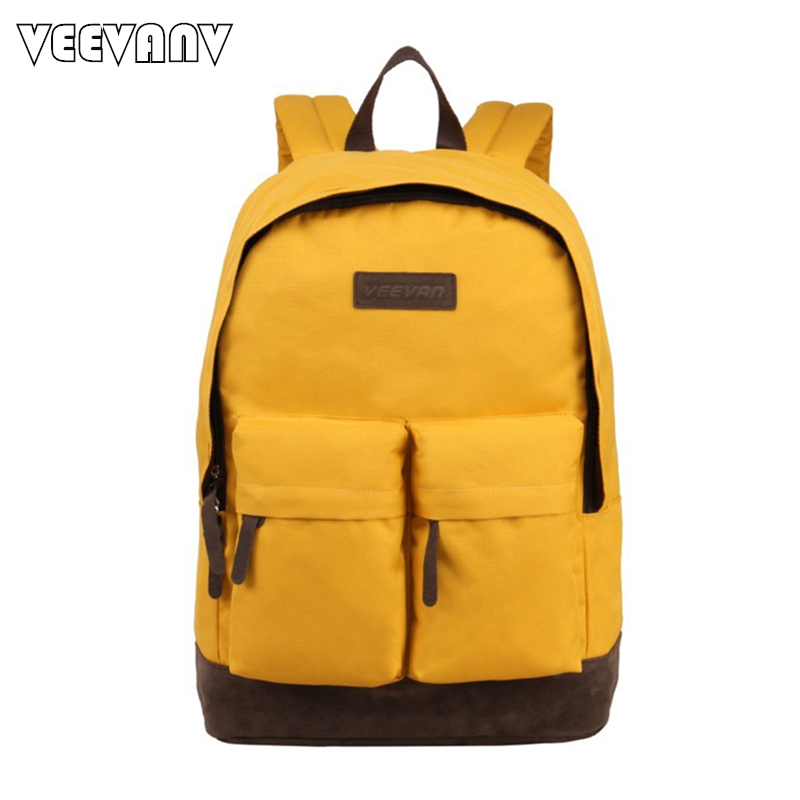 VEEVANV Fashion Men Women Backpacks School Backpack for Girls Canvas Shoulder Bag Travel Bag Pack Casual Laptop Backpacks Female 2016 new sports men and women backpacks fashion men s backpack unsix men shoulder bag brand design ladies school backpack