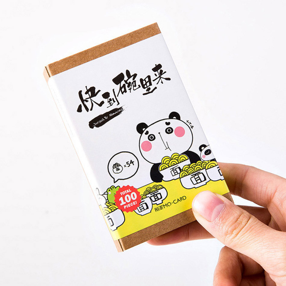 100pcs/box Lovely panda stickers Bookmarks post-it notes Greeting card Gifts for children gift box