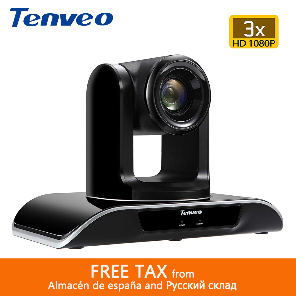Tenveo Rotatable Screen Broadcast Ptz Video Camera VHD3U H.264 Conference Camera 1080p HD PTZ IP Camera With 3x Zoom USB Output