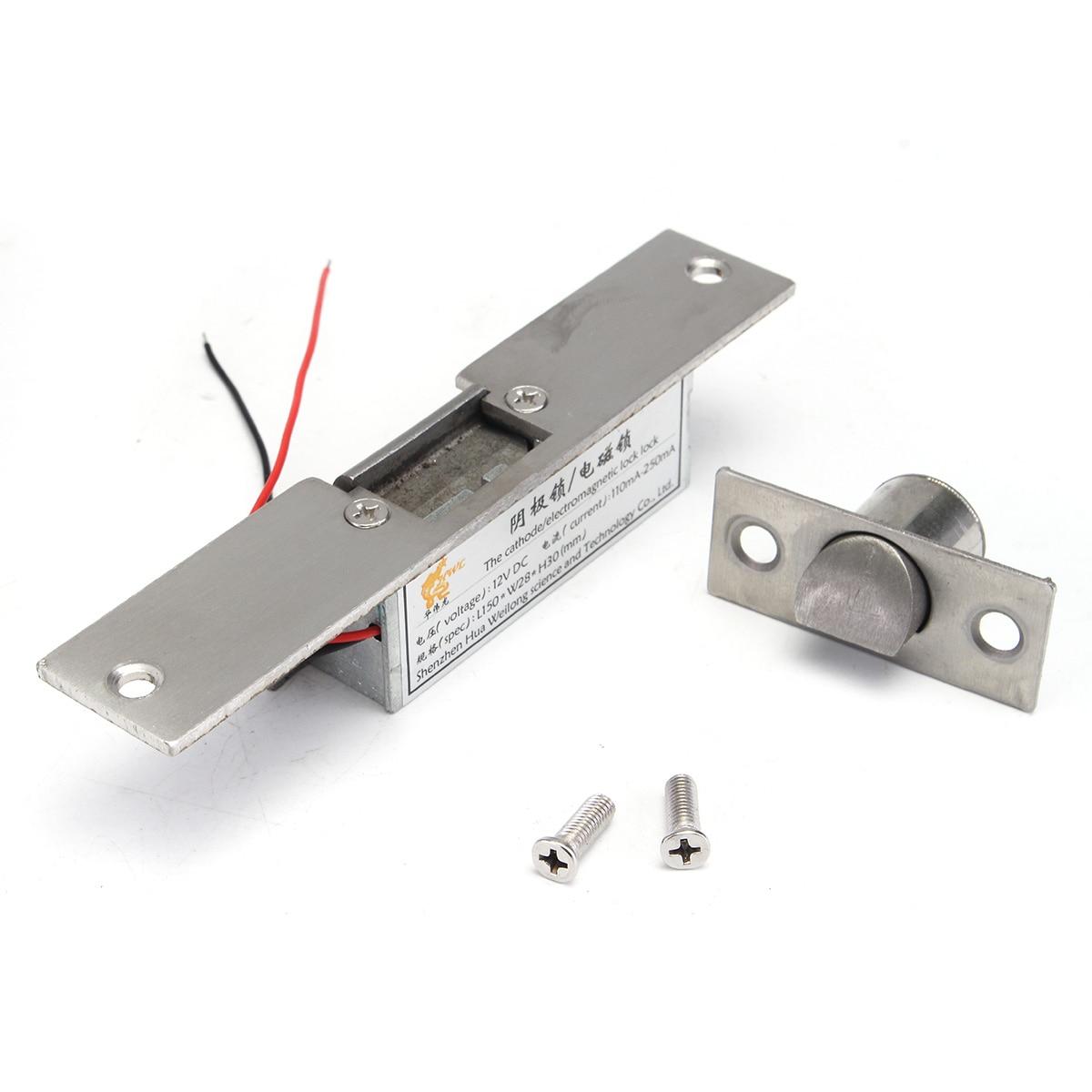 NUOVO Safurance 12 V Fail Safe NC Catodo Legno Metallo Elettrico Sciopero di Blocco Per Il Controllo di Accesso Porta di Sicurezza Domestica