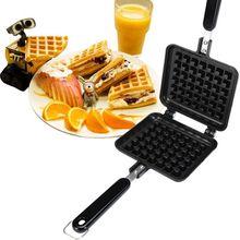 Waffle Mold Aluminum+Teflon Waffle Maker coating Stove Waffle DIY Muffins Mould Bakeware Machine Kitchen Tool цена