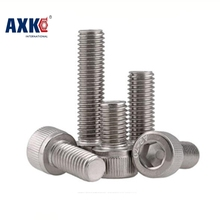 free shipping 50pcs/lot DIN912 M3*5/6/8/10/12/14/16/18/20/25/30 Stainless Steel 304 Hexagon Hex Socket Head Cap Screw 340pcs assorted stainless steel m3 screw 5 6 8 10 12 14 16 18 20mm with hex nuts bolt cap socket set