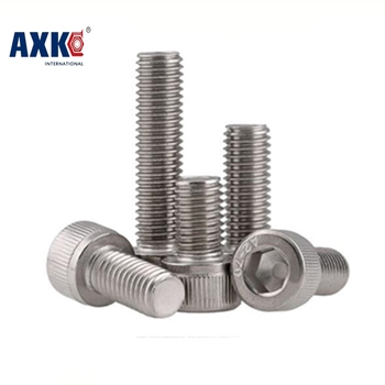 Free Shipping 50pcs/lot Din912 M3*5/6/8/10/12/14/16/18/20/25/30 Stainless Steel 304 Hexagon Hex Socket Head Cap Screw