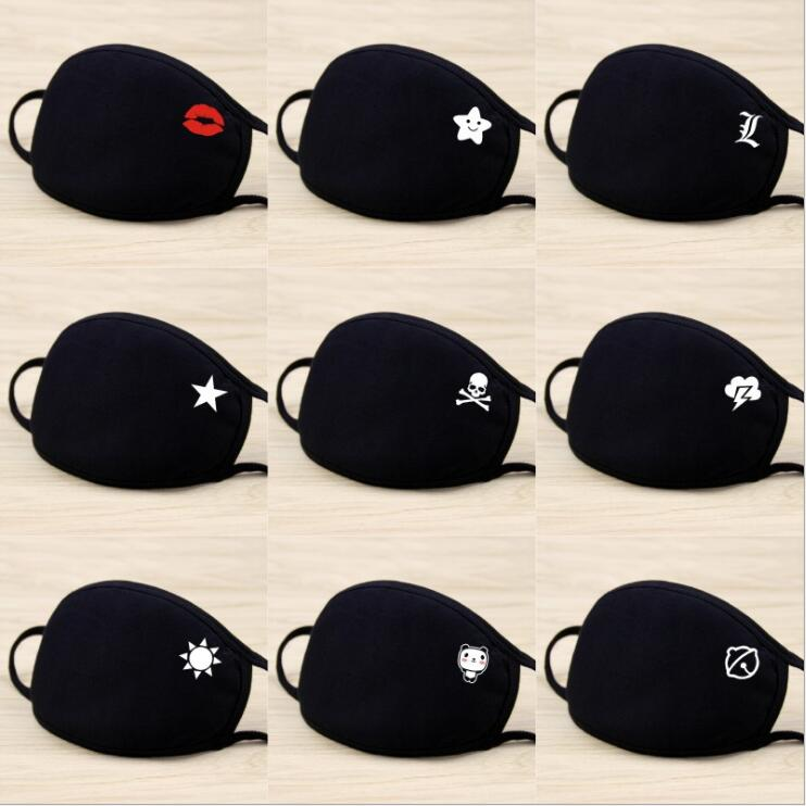 New 1PC PM 2.5 Anti-haze Face Mouth Mask Breathable Cotton Fashion Black Riding Dust Cold Thickening Air Pollution Mouth Mask