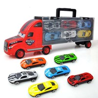 Toys For Boys Magic Track 1 Set Gift For Children Magic Track Toys Hot Wheel Cars Christmas Gift with 6 pcs Alloy car