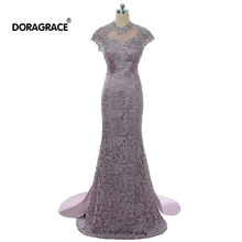 Doragrace Elegant Mermaid Evening Gowns Dresses Lace Mother of the Bride