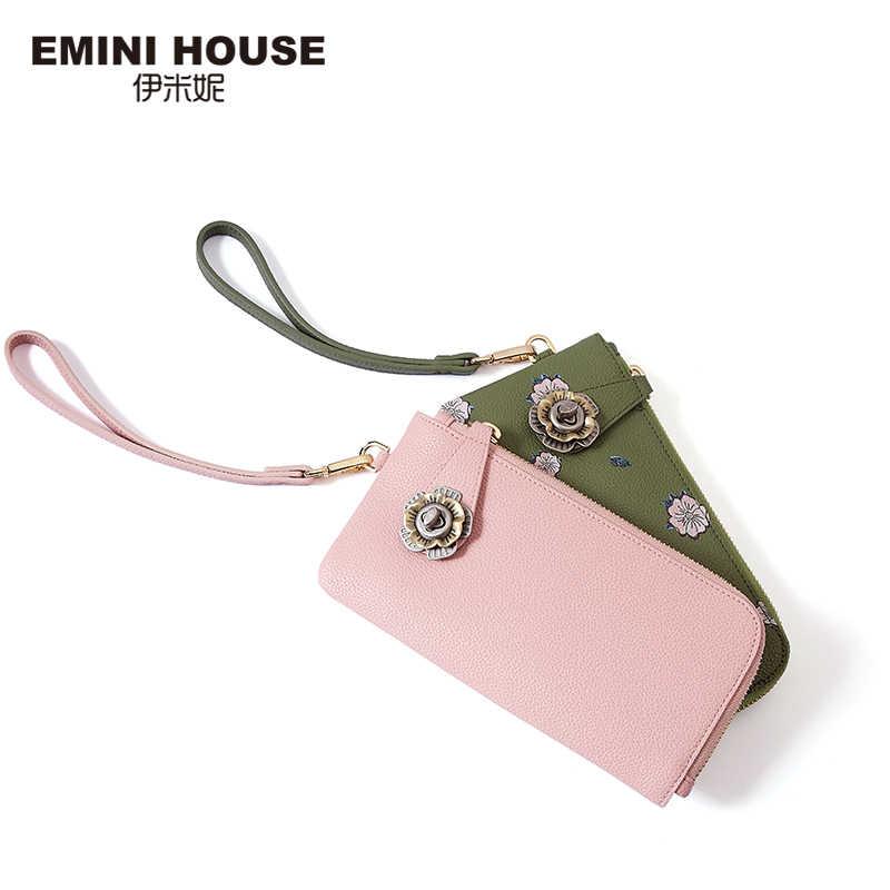 EMINI HOUSE קמליה מצמד תיק פיצול עור Crossbody שקיות נשים כתף תיק מעטפת מצמדי שליח שקיות