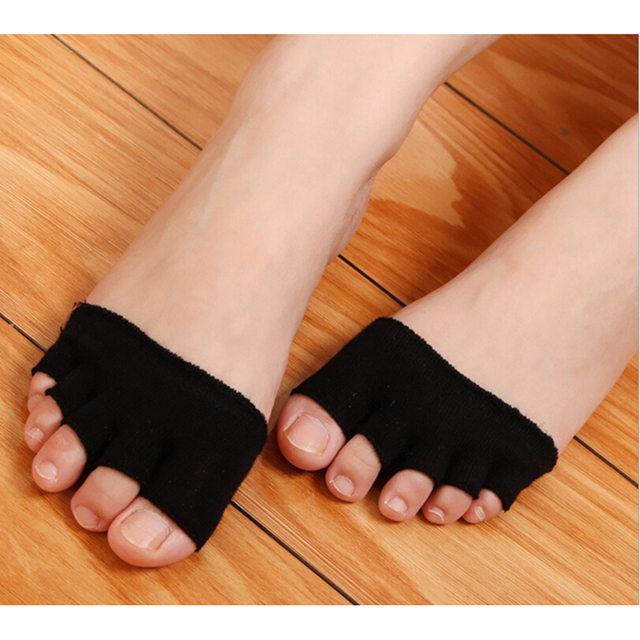 1 Pair Invisible Non Slip Toe Half Grip Heel Five Finger Socks Health Care Accessories  Feet Care Tools 2