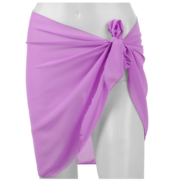 593d1a0fbb Beach cover up Bikini Swimwear Cover up sarong wrap Pareo Skirt swimsuit  purple