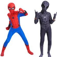Red Black Spiderman Costume Venom Spider Man Zentai Suit Spider-man Costumes Adults Superhero Halloween For Kids