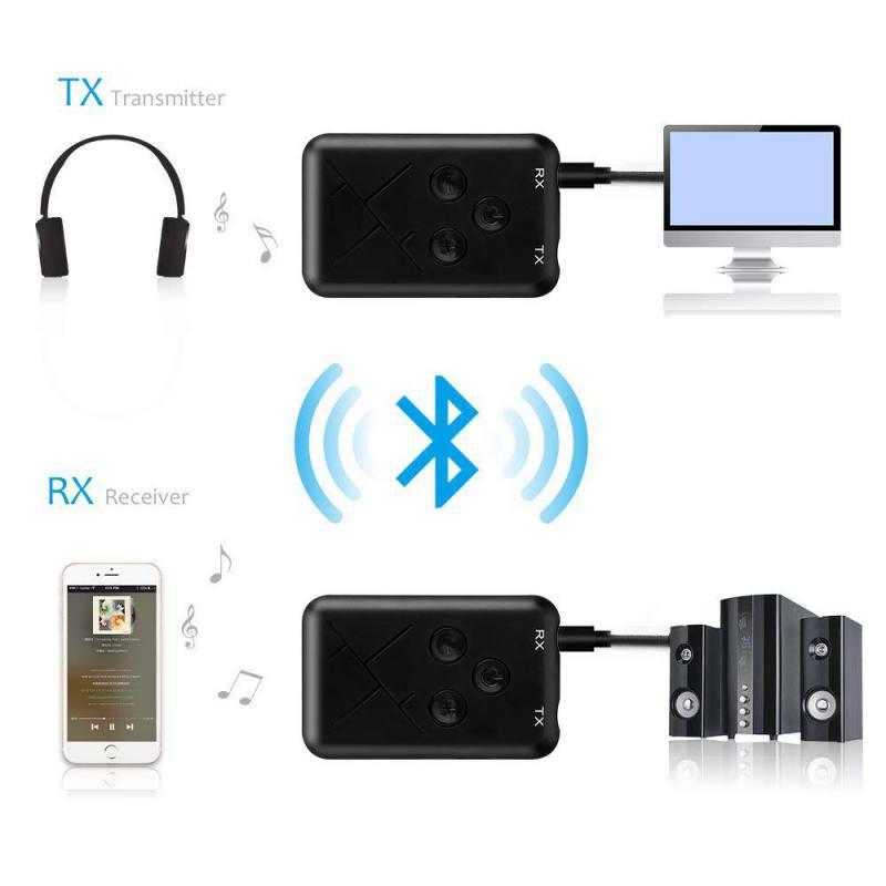 Image 3 - Bluetooth адаптер 2 в 1 стерео 3,5 мм аудио музыка беспроводной передатчик приемник адаптер для автомобильные наушники стерео, для мобильного телефона-in Адаптеры, брелки USB, Bluetooth from Компьютер и офис