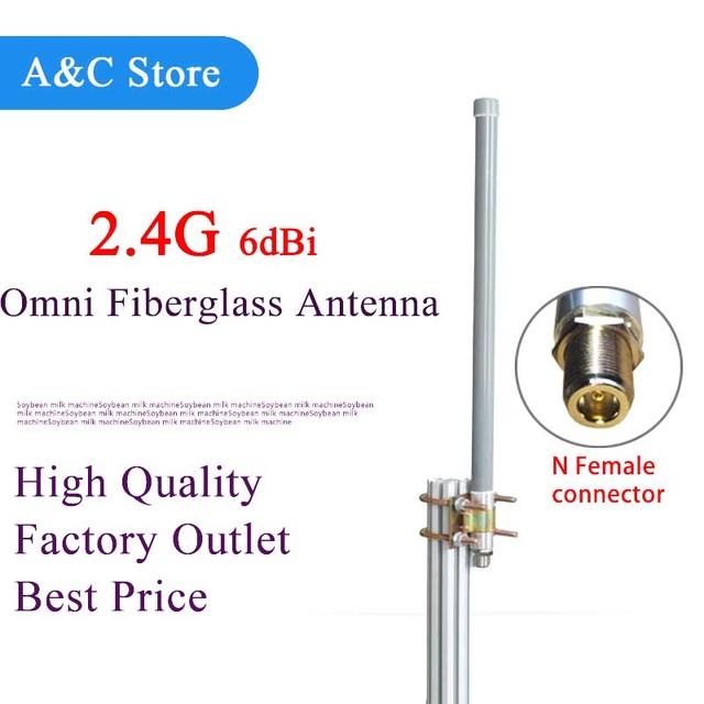 2.4g wifi antena de estación base antena omni de fibra de vidrio al aire libre techo sistema de monitoreo inalámbrico de cobertura de la señal wifi