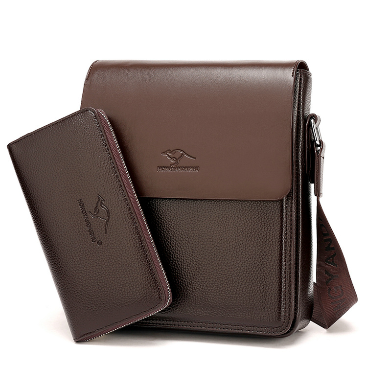 HONGYANDAISHU With a Wallet Brand Bag Men Messenger Bags Men s Crossbody Bag Man Satchels bolsos