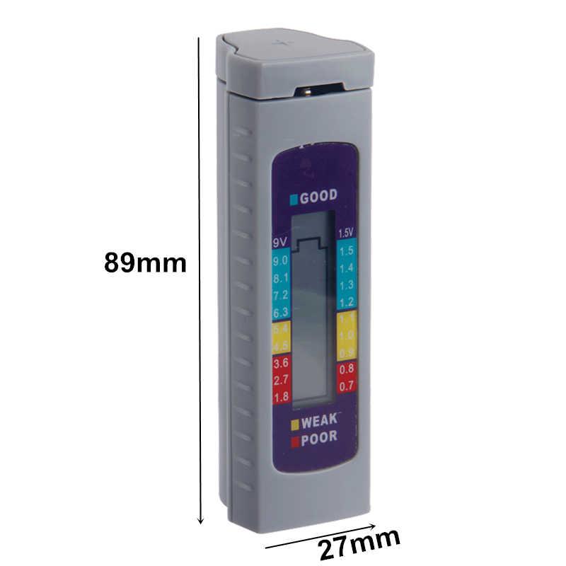Verificador do verificador da capacidade de digitas da bateria para a bateria de lítio aa/aaa/1.5 v 9 v testador da fonte de alimentação ferramentas de medição do instrumento