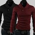 Бесплатная доставка мужской одежды вязать свитер мода досуга большой лацкане развивать нравственность шутник высокое качество 4 цвет размер M-XXL