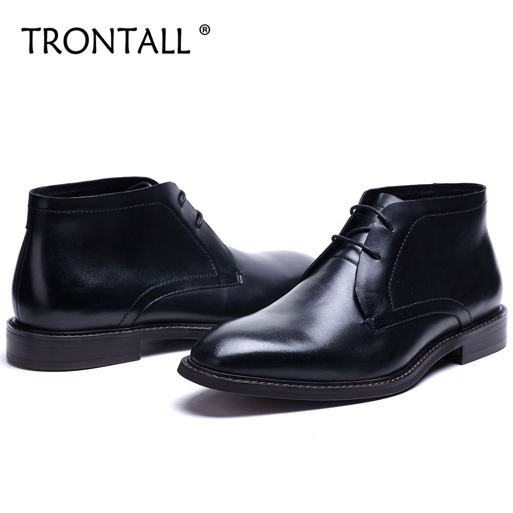 Black formal shoes genuine Leather Lace-up Non-slip Rubber sole HandmadeBritish Style Men's Shoes Black Ankle Boots france tigergrip waterproof work safety shoes woman and man soft sole rubber kitchen sea food shop non slip chef shoes cover