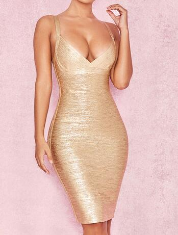 new High quality 2018 women s dress wholesale METALLIC GOLD CROSS BUST  BANDAGE DRESS party dress dropshipping-in Dresses from Women s Clothing on  ... b03b4dd7d082