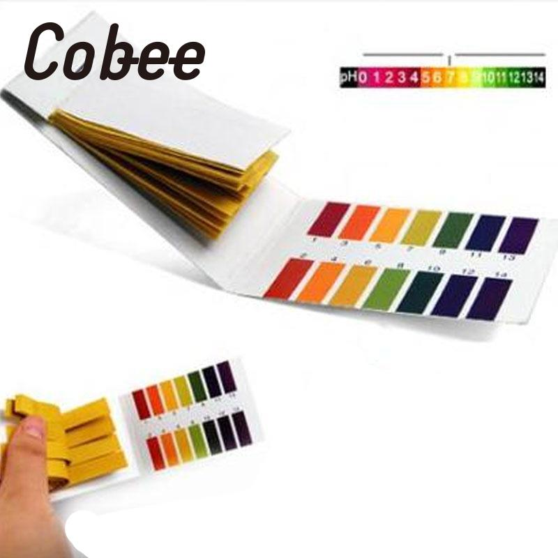 Cobee 80page PH Test Paper Meter Chemistry Stationery Acid Alkali Monitoring Students School Supplies No Stationery Sticker