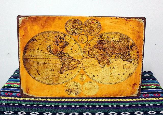 Aliexpress buy ua 0306 about the world map vintage metal signs ua 0306 about the world map vintage metal signs decorative plates wall art craft handicraft gumiabroncs Images