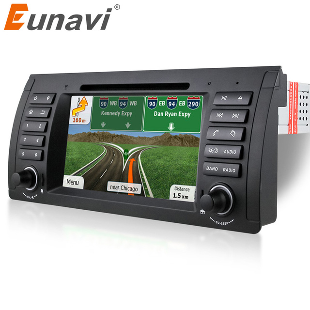 Eunavi 1 Din 7 Inch Car DVD Player For BMW E39 E53 X5 E38 Dvd