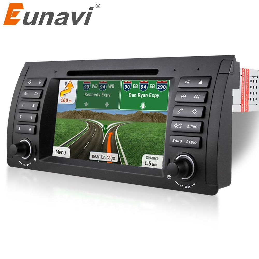 Eunavi 1 Din 7 pouces lecteur dvd De Voiture pour BMW E39 E53 X5 E38 dvd de voiture gps avec navigation gps autoradio stéréo bluetooth