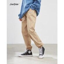 SODAWATER Erkekler Jogger Streetwear 2019 Sonbahar Kış Gevşek dökümlü pantolon Erkekler Hip Hop Rahat Düz Renk Pantolon eşofman altları 93353W