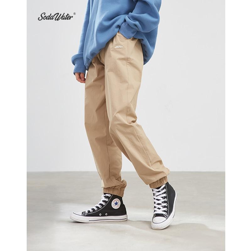 SODAWATER Men Jogger Streetwear 2019 Autumn Winter Loose Baggy Pants Men Hip Hop Casual Solid Color Trousers Track Pants 93353W