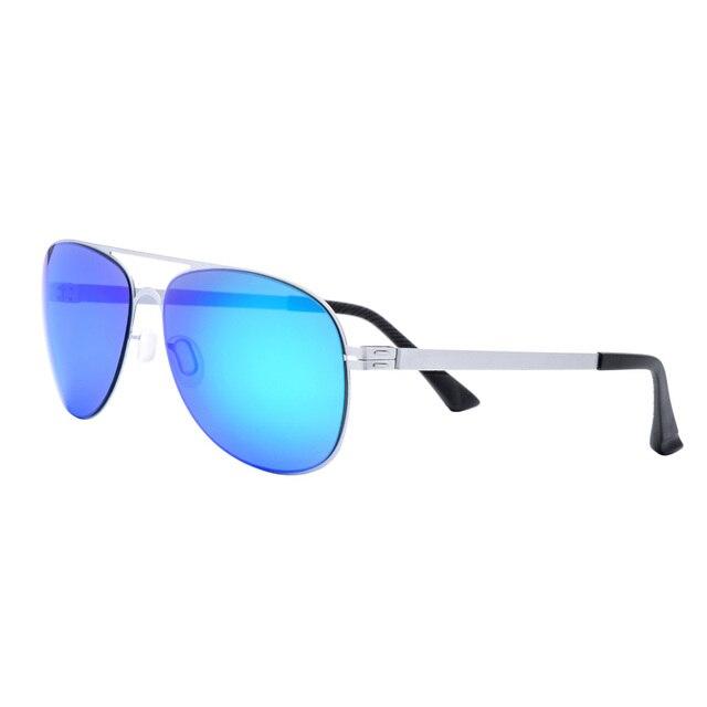 Fonex Fashionable Metal Pilot Polarized Sunglasses Men Reflective Sports Sun Glasses Outdoors Square Oval Eyewear Gafas De Sol