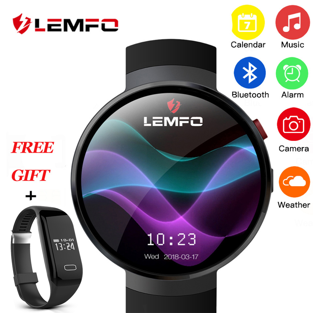 LEMFO LEM7 умные часы Android 7.1.1 LTE 4 г Sim 2MP камера gps wifi пульсометр 1 Гб + 16 Гб Память с камерой Smartwatch для мужчин